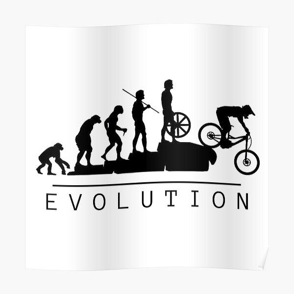Evolution du vélo de montagne Poster