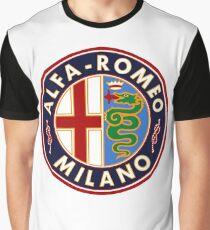 Antique Alfa-Romeo Classic Car Sign Graphic T-Shirt