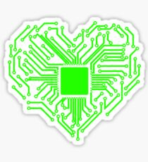 Electric circuit heart design Sticker
