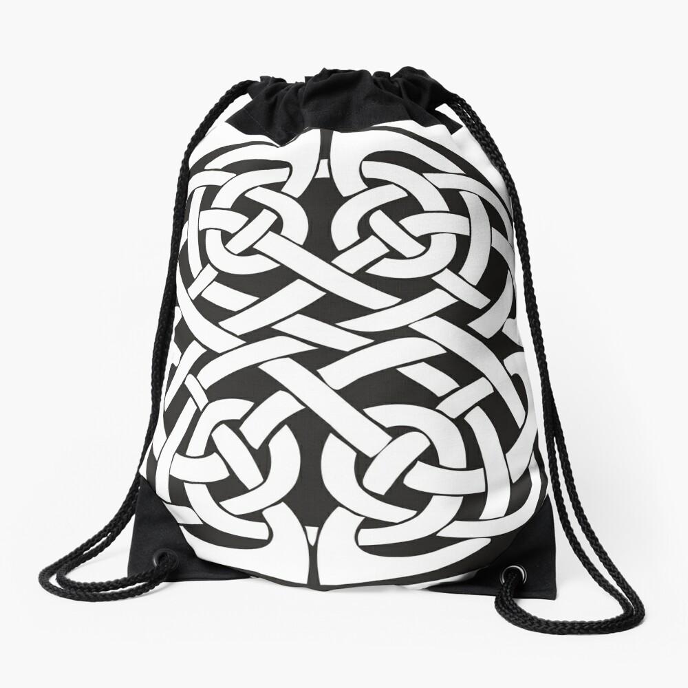 Round Celtic Knot Drawstring Bag