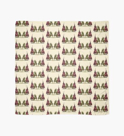 four noble knights on horseback with lance and sword Scarf