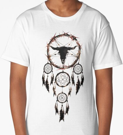 Summoning circle pentagram - Dreamcatcher Long T-Shirt
