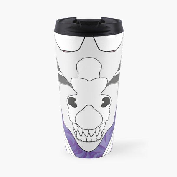 Dragon Skull Pink and Purple Travel Mug
