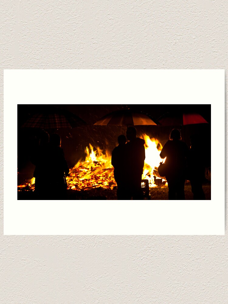 Alternate view of Brollies by the fire Art Print