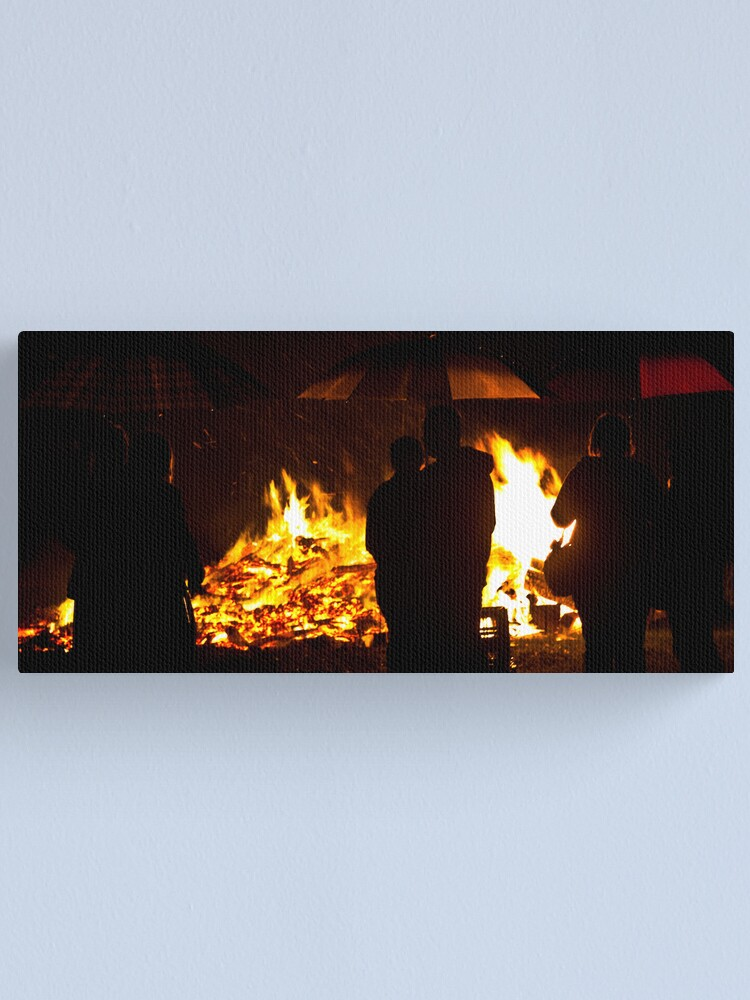 Alternate view of Brollies by the fire Canvas Print
