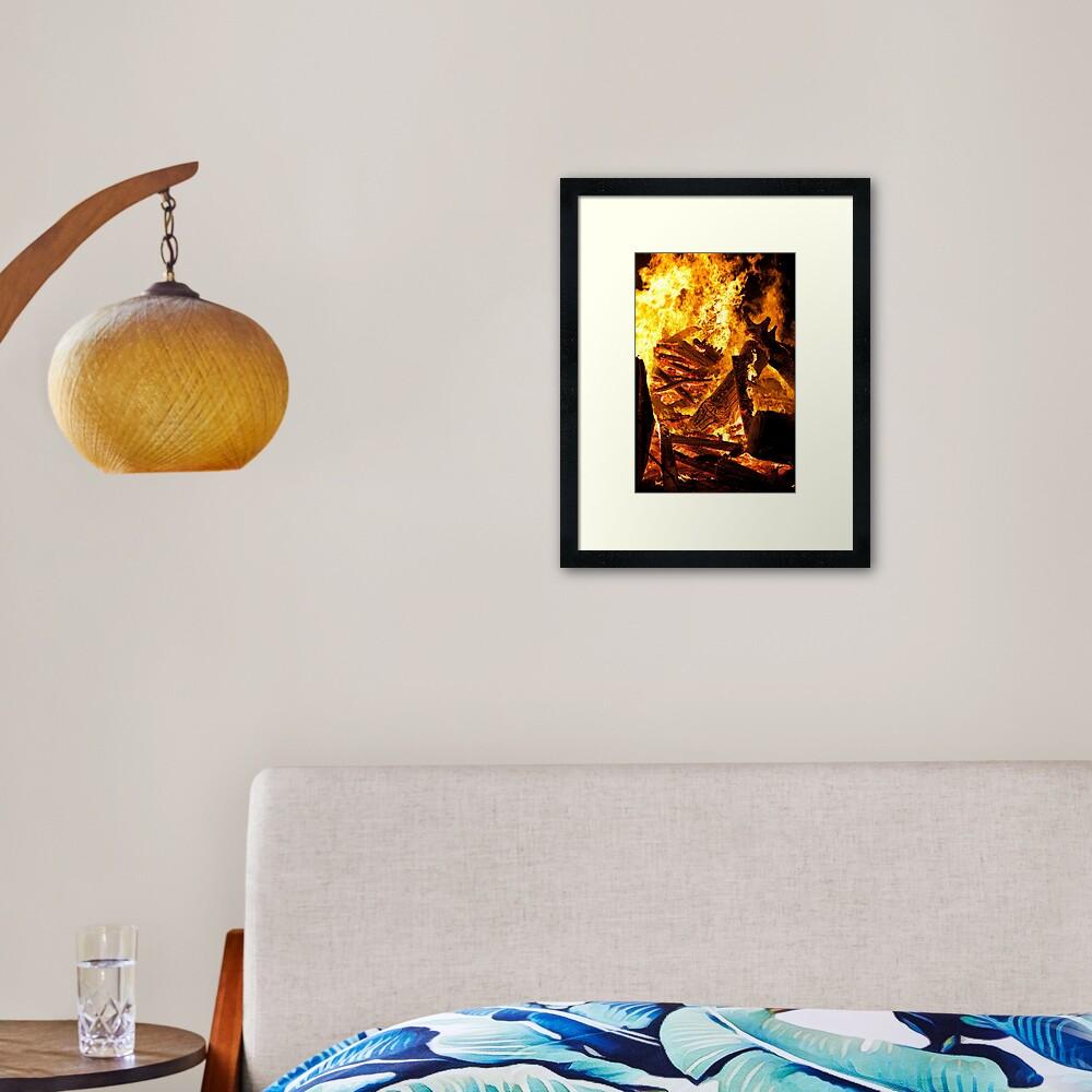 Feel the heat Framed Art Print
