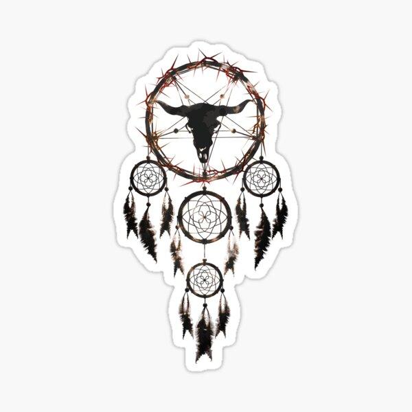 summoning circle pentagram - dream catcher Sticker