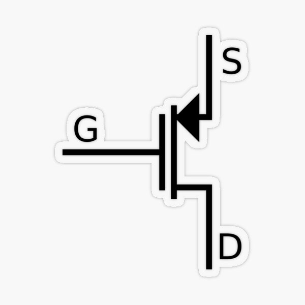 Mosfet symbol, #mosfet, #symbol, #MosfetSymbol, #SymboleMosfet Transparent Sticker