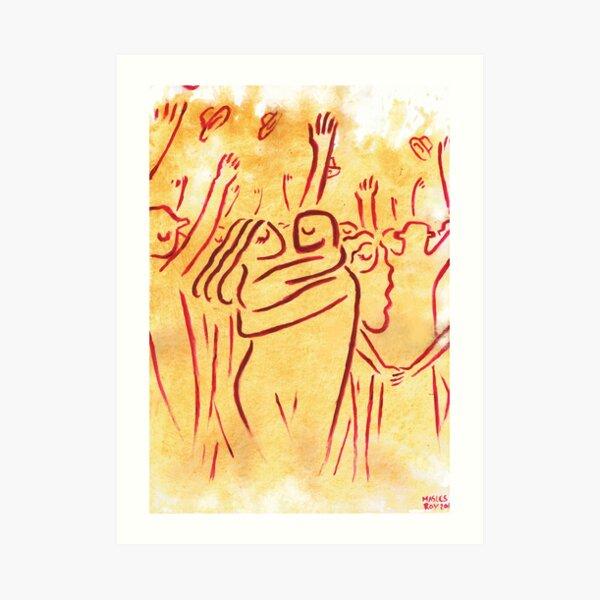 El abrazo Lámina artística