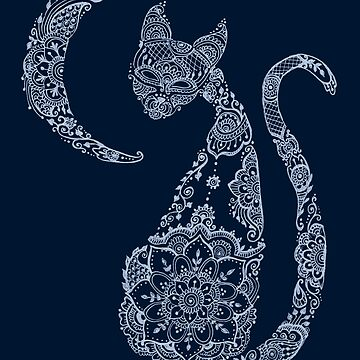 Cat and Moon - Silver by MariaMahar