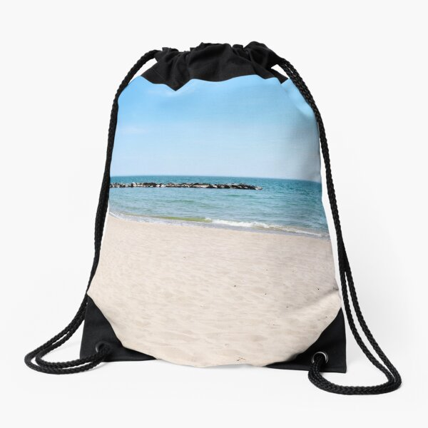 AFE Toronto Island Beach 3, Beach Photography Drawstring Bag