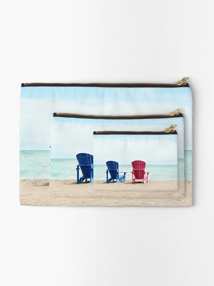 Alternate view of AFE Beach Chairs, Beach Photography Zipper Pouch