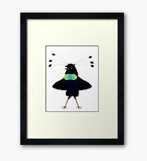 Bop the Ballerina Bird Framed Print