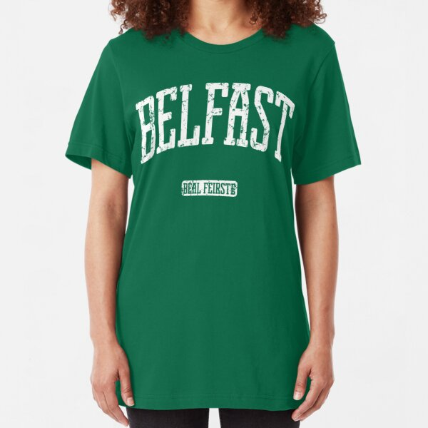 Belfast (White Print) Slim Fit T-Shirt