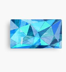 Blue graphics Metal Print