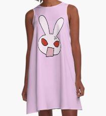 Angry Pinky Bunny A-Line Dress
