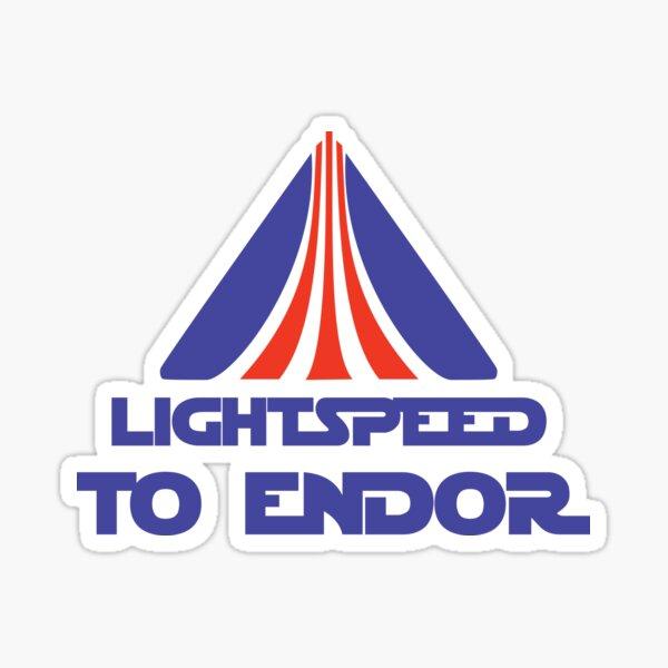 Lightspeed to Endor Sticker