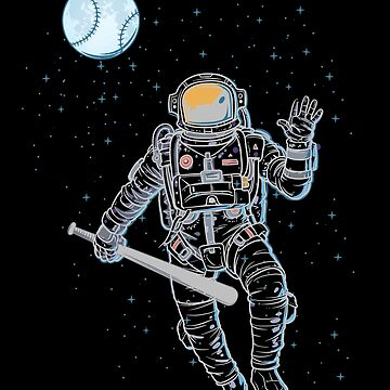 Astronaut plays baseball in space by NiceTeee
