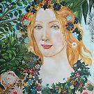 Flora - After Botticelli's Primavera by Christiane  Kingsley