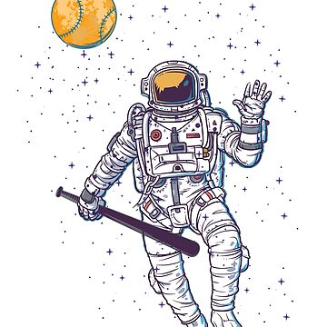 Astronaut, baseball by NiceTeee