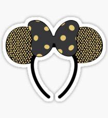 Gold Minnie Ears Sticker