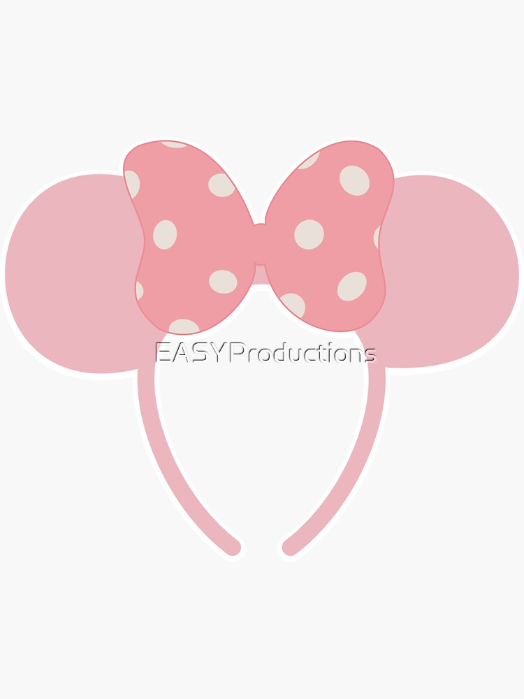 Millennial Pink Minnie Ears by EASYProductions
