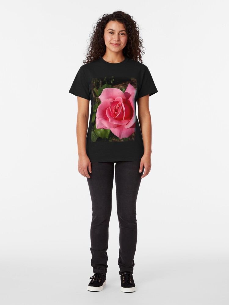 """Alternate view of """"Bewitched"""" Rose from my garden Classic T-Shirt"""