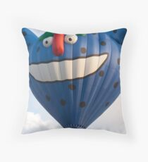 silly grin Throw Pillow