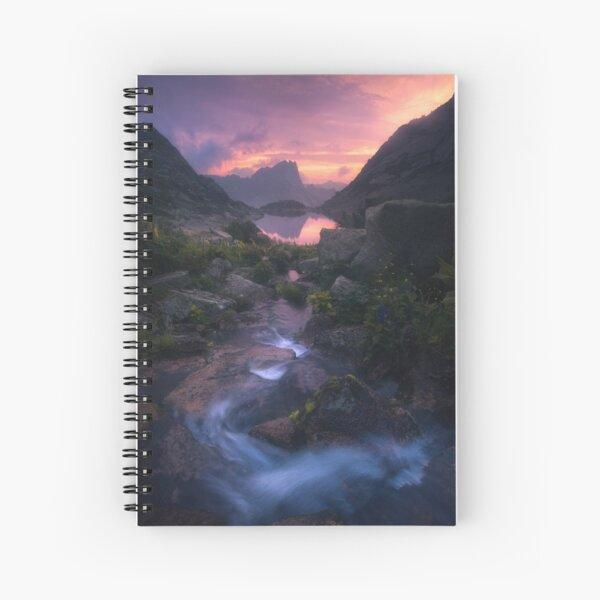 Stream of Mountain Spirits Spiral Notebook