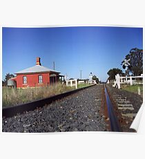 Train Track not too far from Tamworth, Northern NSW. Australia Poster
