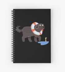 Newfoundland Newfie Swimming Gift Idea   Spiral Notebook
