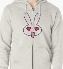 Lovey Pinky Bunny Zipped Hoodie