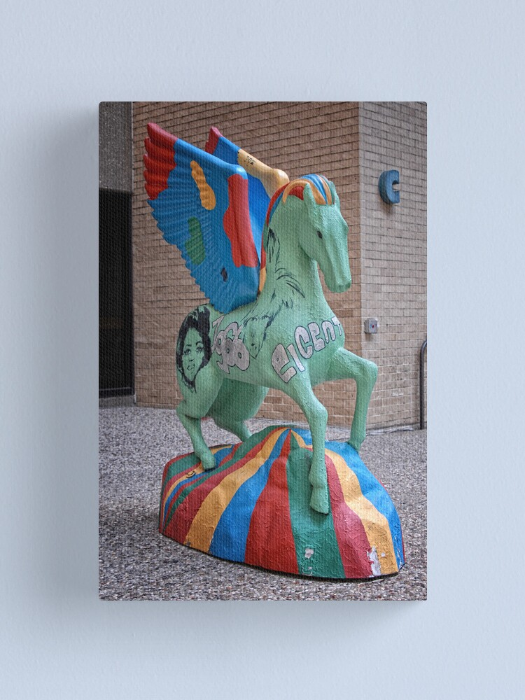 Alternate view of Psychedelic Pegasus Canvas Print