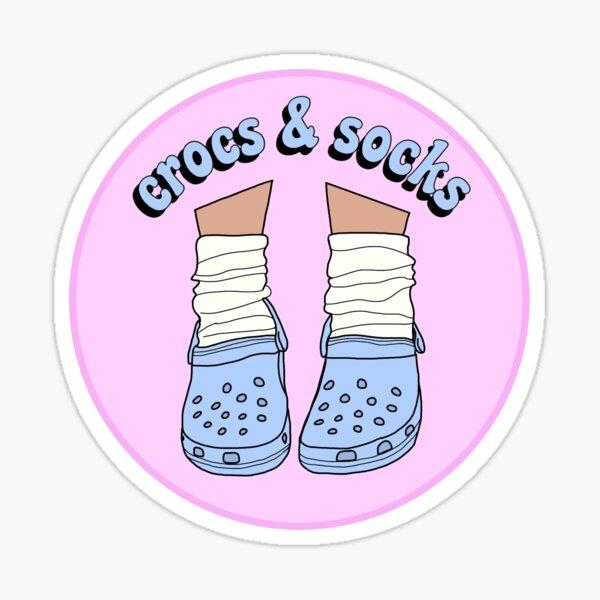 Light Blue Crocs and Socks Sticker