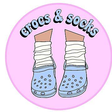 Light Blue Crocs and Socks by abbyconnellyy