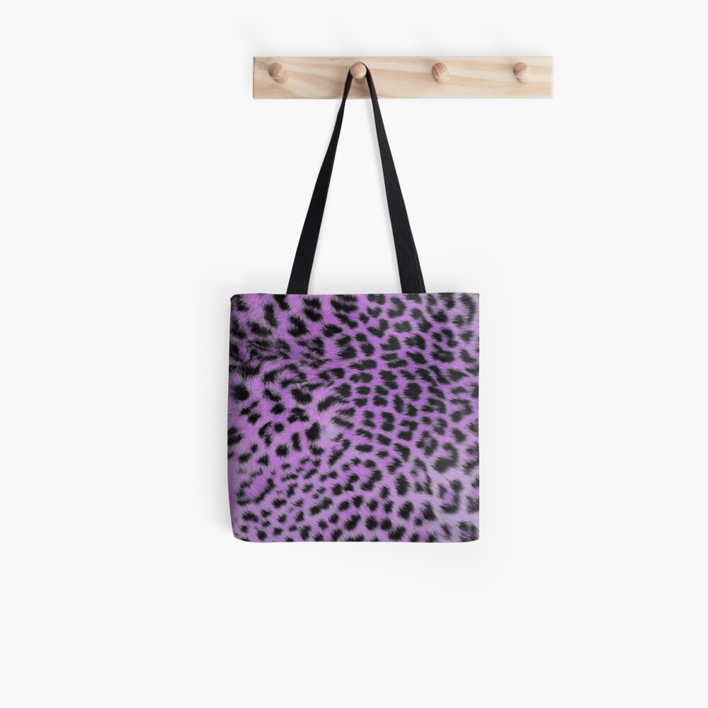bright leopard print ultra violet Tote Bag