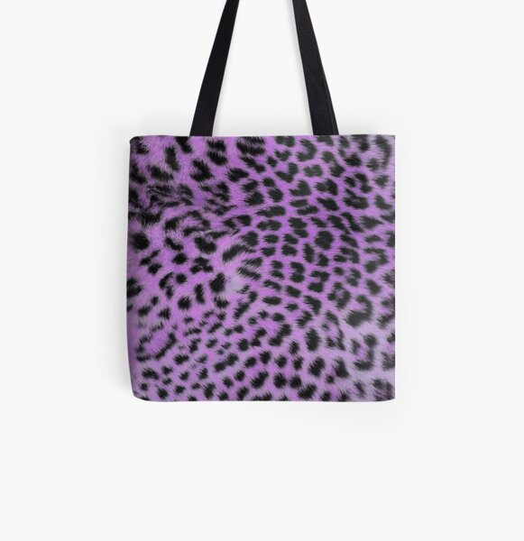 bright leopard print ultra violet All Over Print Tote Bag