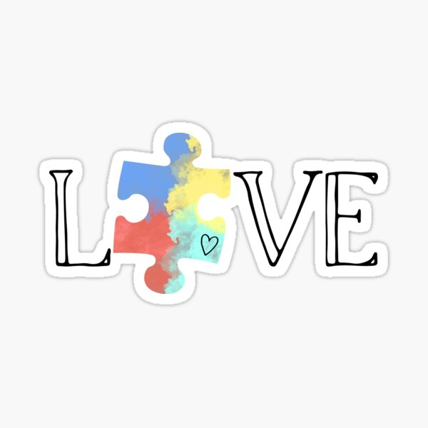 Live and Love Autism Sticker