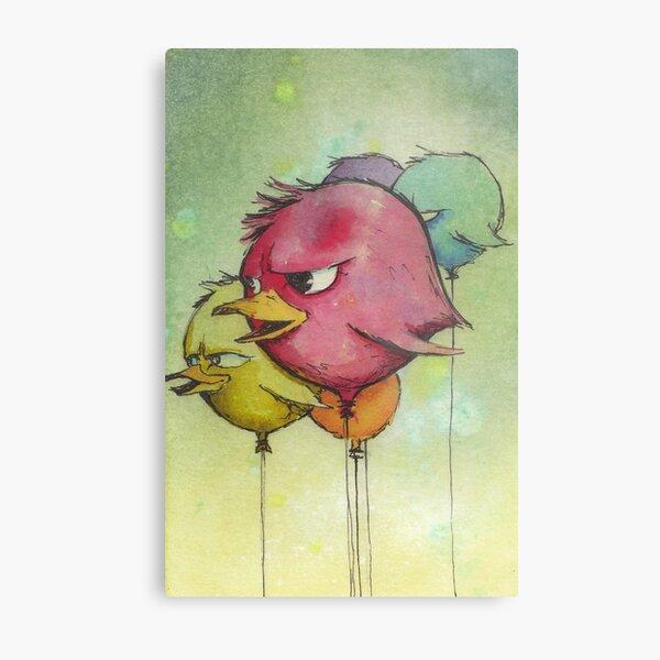 Angry Balloons Metal Print