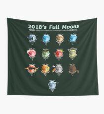 2018's Full Moons Wall Tapestry