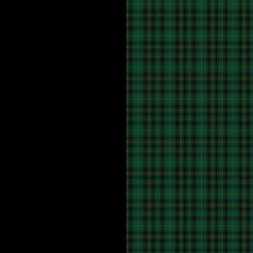 Tartan punk green and black by YlliaXiloscient