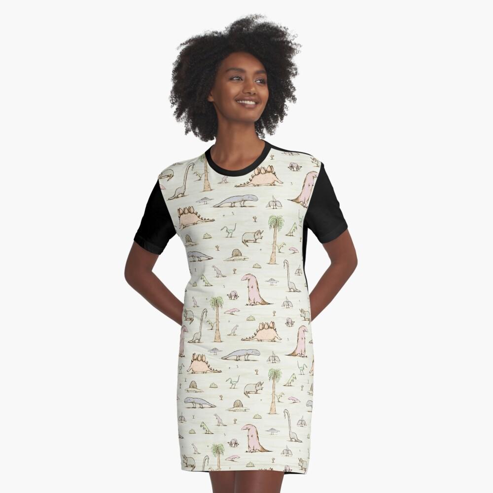 Dinosaurs Graphic T-Shirt Dress