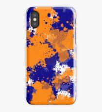 Orange & Navy Splatter iPhone Case/Skin