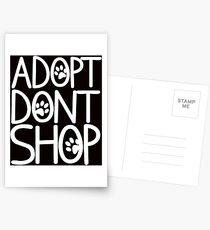 Adopt dont shop Postkarten