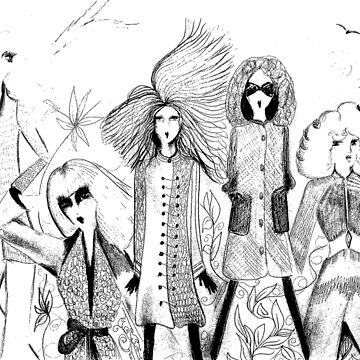 70S DOLLY PRINT FASHION OUTFITS BLACK WHITE OP ART by jacquline8689