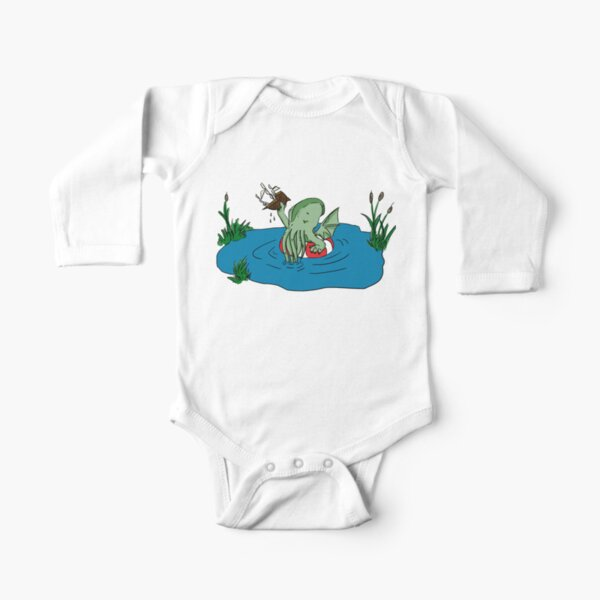 Lil' Cthulhu Long Sleeve Baby One-Piece