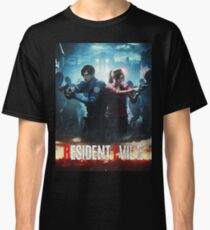 RESIDENT EVIL 2 REMAKE - LEON & CLAIRE Classic T-Shirt
