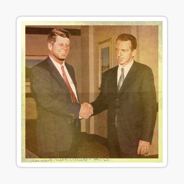 When Kennedy Met Oswald — Dec '62 Sticker