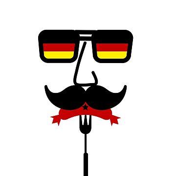 Germany Mustache Octoberfest by maxarus