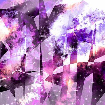 galaxy - geometric - pink by Lyxy